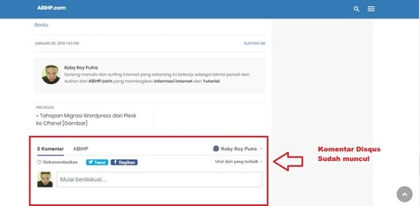 Cara Hosting Sendiri Komentar Disqus Plugin AMP for WP