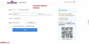 Login Baidu Chinese