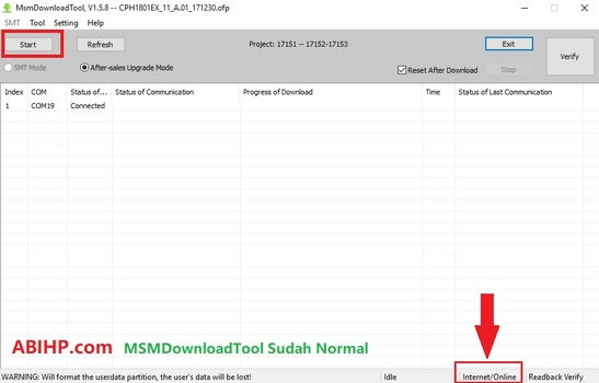 Download MsmDownload Tool Oppo A71 CPH1801EX
