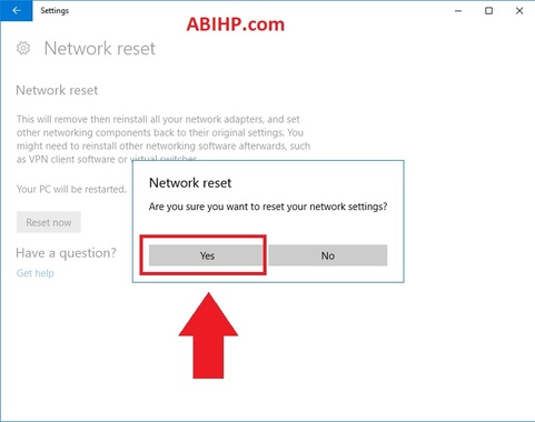 Cara Reset Jaringan Internet Windows 10