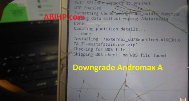 Downgrade Andromax A