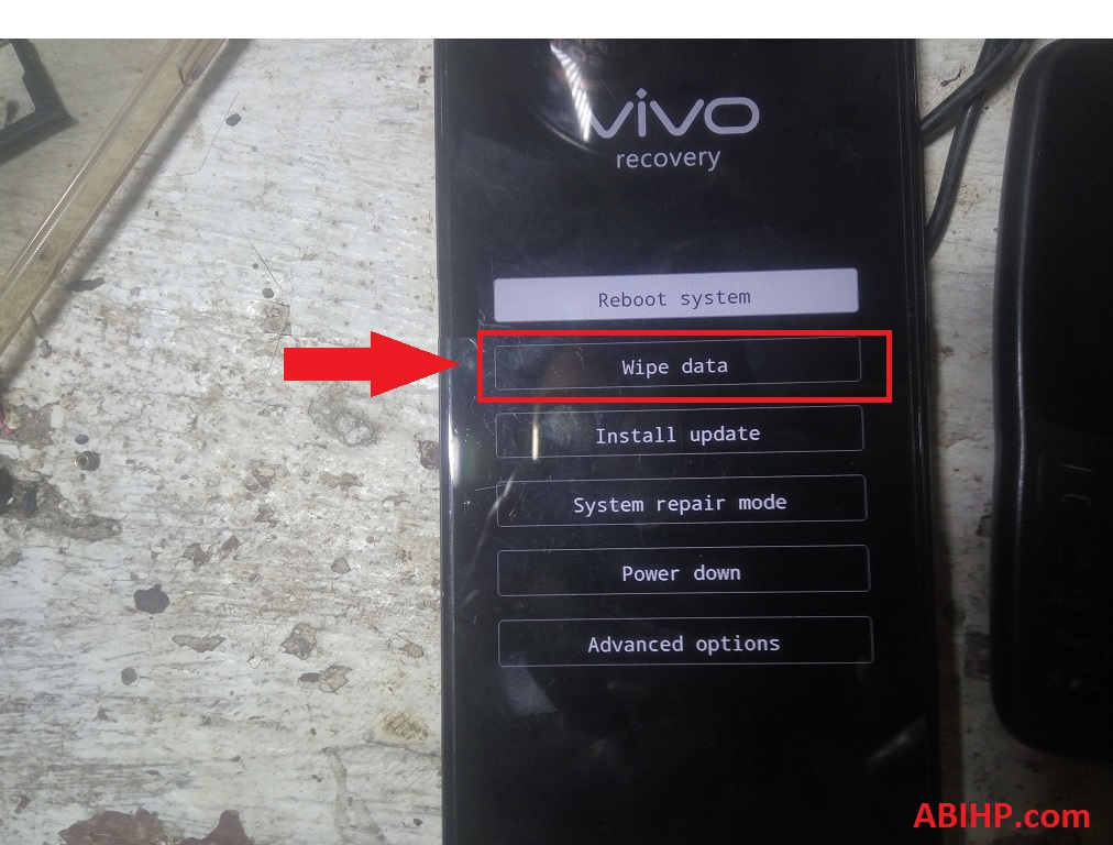 Wipe Data Vivo Y91