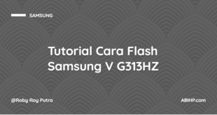 Cara Flash Samsung V G313HZ
